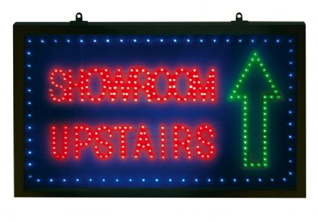 Showroom Upstairs LED Sign